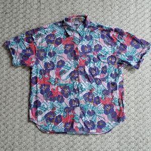 Vintage Jordache Petite Button Up Floral Shirt